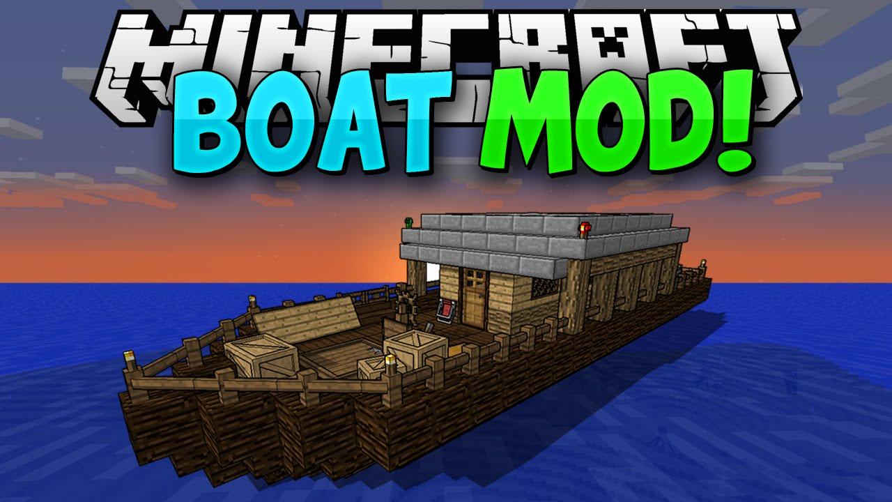 Скачать мод для майнкрафт 1.7.10 на лодки