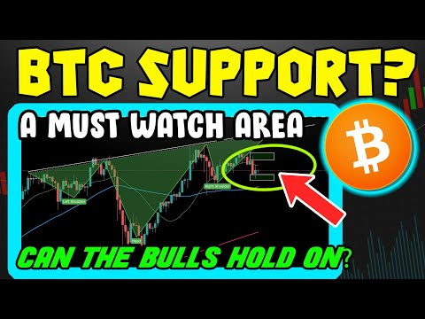 BITCOIN IS ABOUT TO MOVE!! WILL BTC SUPPORT HOLD?