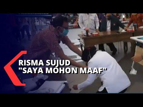Risma Sujud Sambil Menangis Di Hadapan Dokter Di Surabaya: Saya Mohon Maaf!