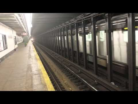 IRT Eastern Parkway Line: R142 & R62 (2) (3) (4) Trains @ Nostrand Avenue