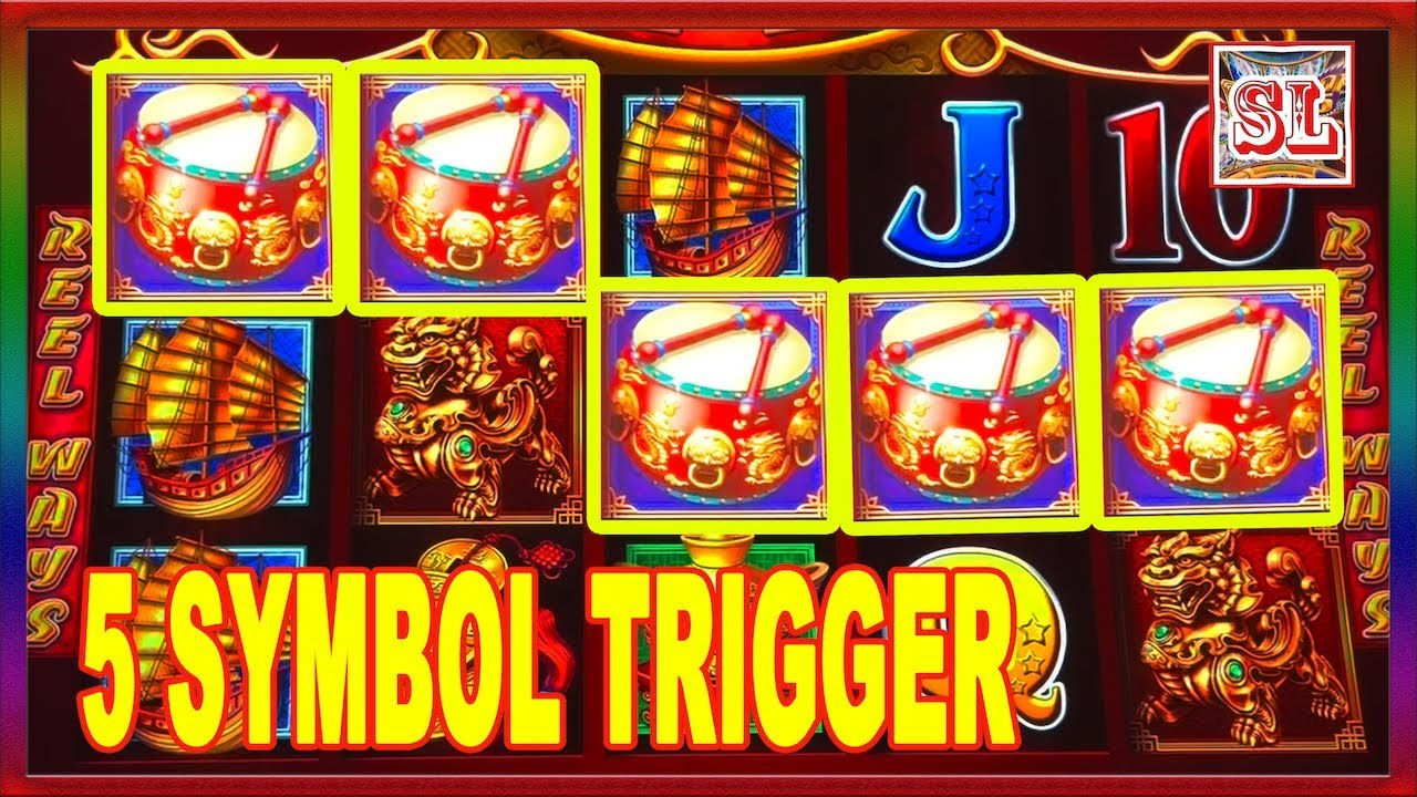 5 Symbols Trigger On Dancing Drums Big Win Slot