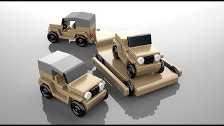 Wood Toy Plans Vietnam Jeeps And Chopper Gurney