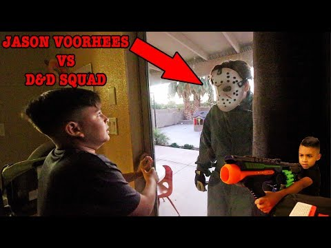 JASON FINDS DAMIAN & DEION | SCARY MOVIE | D&D SQUAD BATTLES