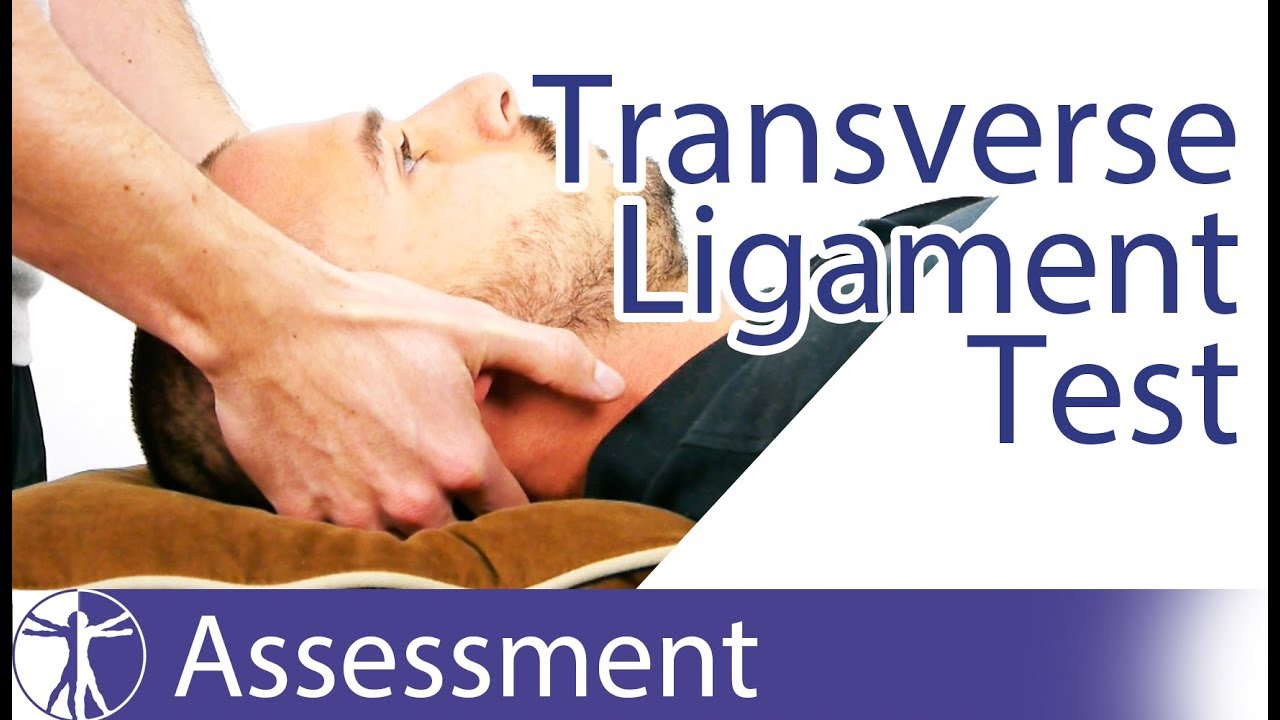 Transverse Ligament Test | Upper Cervical Spine Instability - YouTube