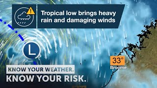 Severe Weather Update: tropical lows bring heavy rain, strong winds to northern WA, 10 December 2020