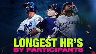 Longest Home Runs from 2019 Home Run Derby participants
