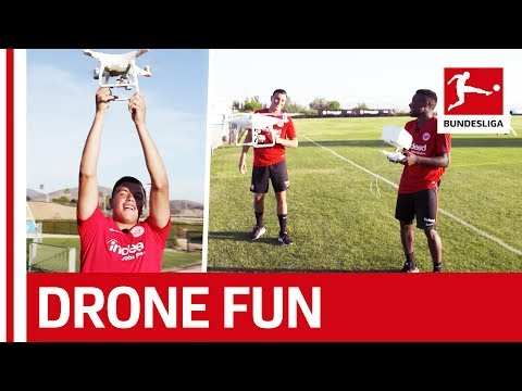 Fun with Drones – Frankfurt Starlets Buzz the Boss!