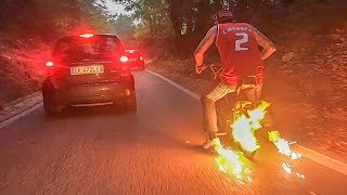 Ghost Rider - Incredibile Discent with fiery bike - fire on bike - DAFNEFIXED