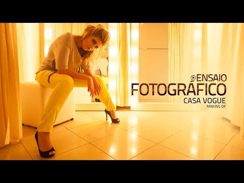 Vídeo Ensaio fotografico vogue