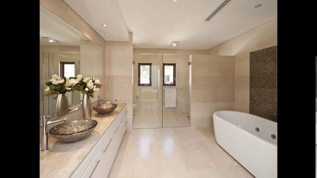 Modern ensuite bathroom designs - YouTube