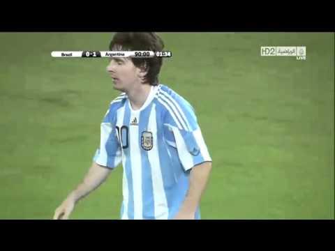 Gol de Messi en HD Argentina vs Brazil 1 0 FUTBOL RETRO TV