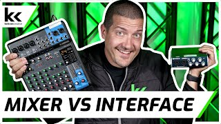 Audio Mixer vs Audio Interface | What should you buy?