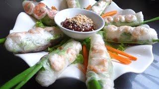 Vietnamese Spring Roll Recipe (Goi cuon) 越南春卷   Huang Kitchen