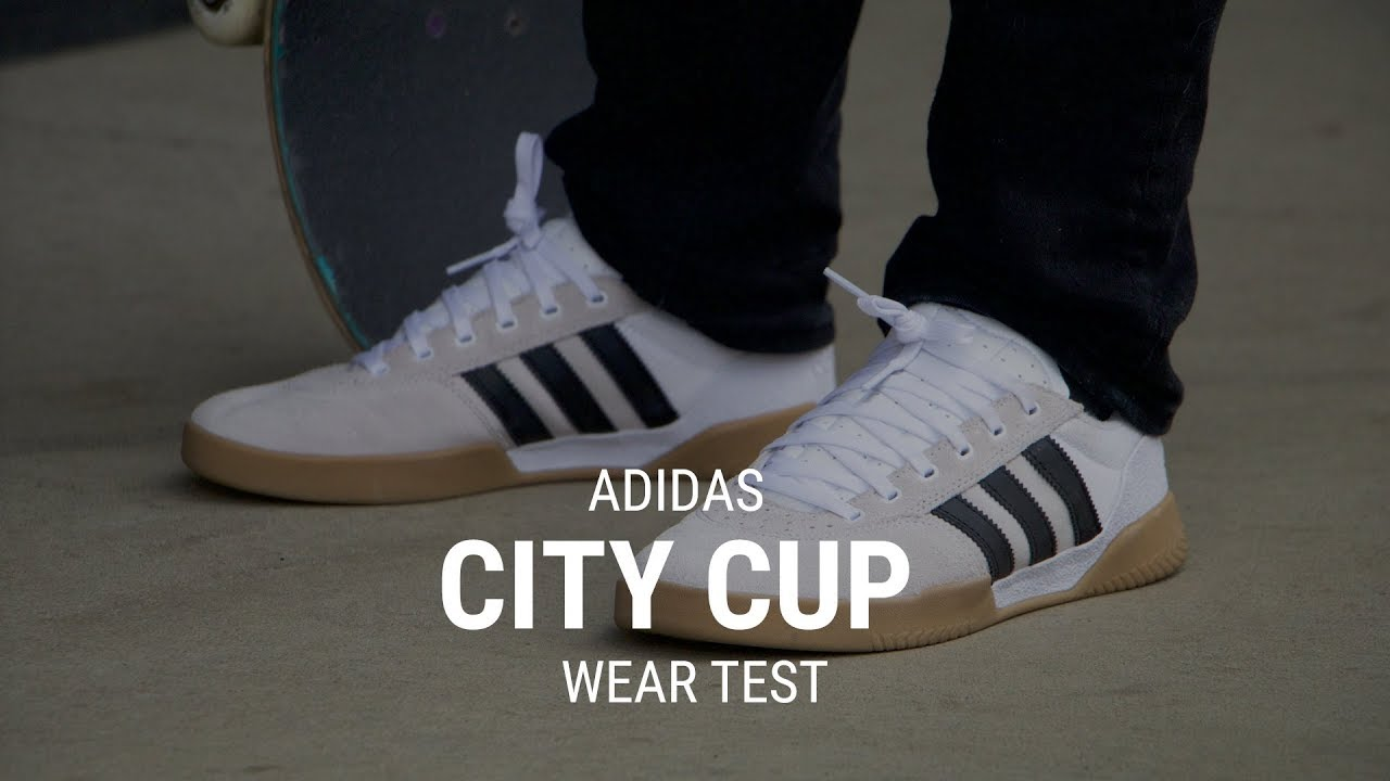 354837569a89 Adidas City Cup Skate Shoes Wear Test Review - Tactics.com - YouTube