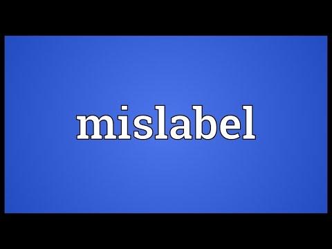 Header of mislabel