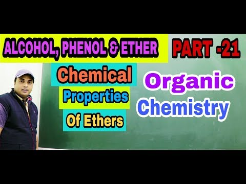 Chemical Properties Of Ethers|Alcohol,Phenol And Ether|Organic Chemistry| IIT JEE NEET/AIIMS,Part 21