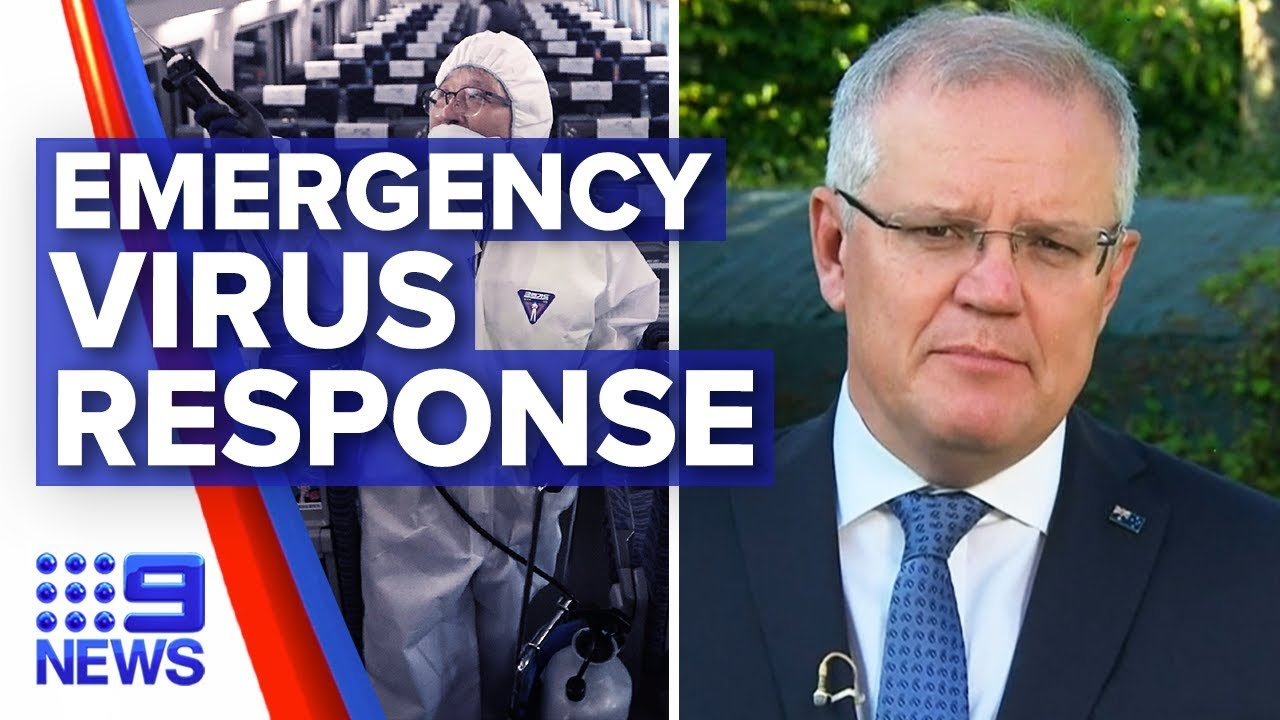Coronavirus: PM explains emergency response plan | Nine News Australia Смотри на OKTV.uz