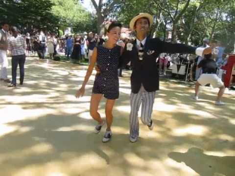 Swing Dancing At Jazz Age Lawn Party Governors Island NY 1920s Great Gatsby Lindy Hop