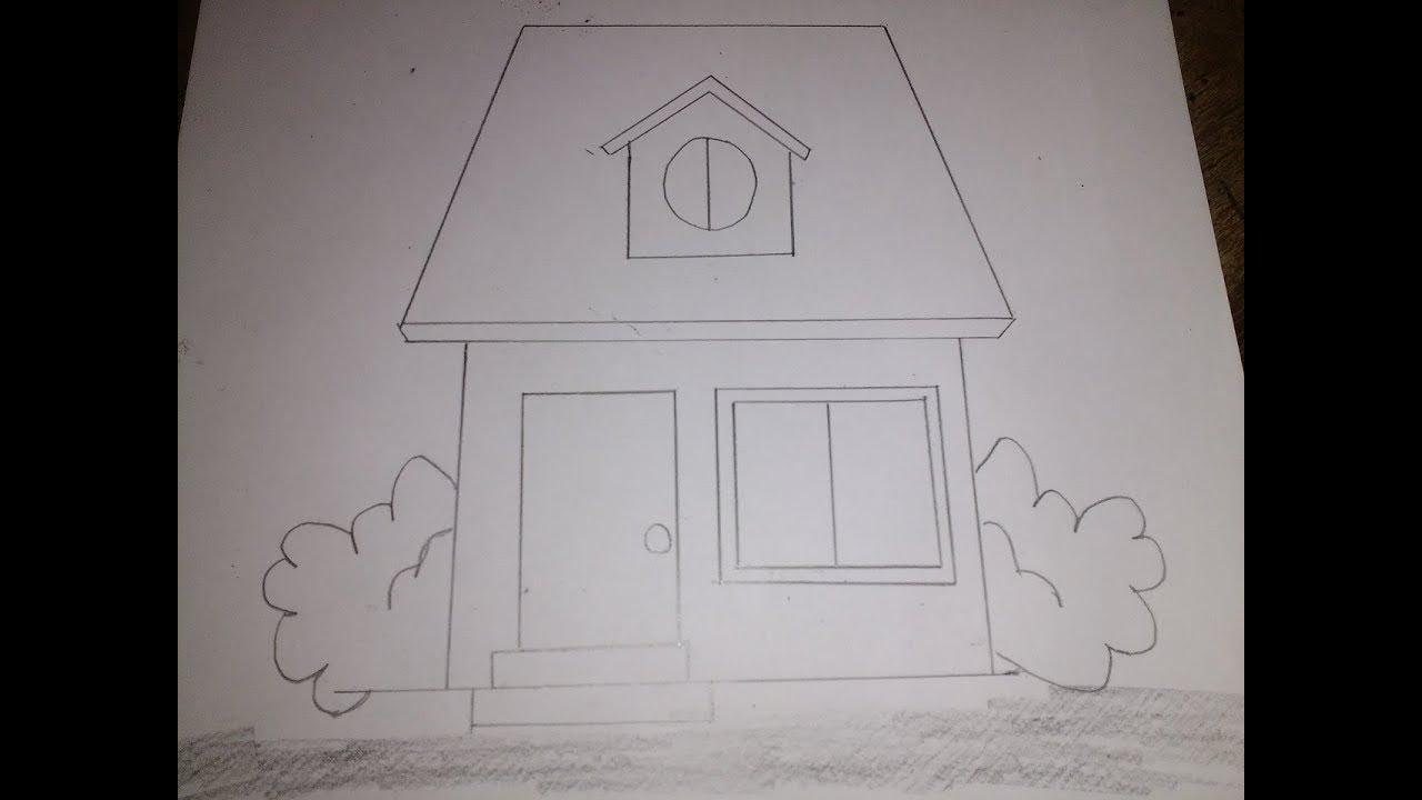 رسم كيفية رسم بيت بالرصاص للمبتدئين شكل 1 Youtube