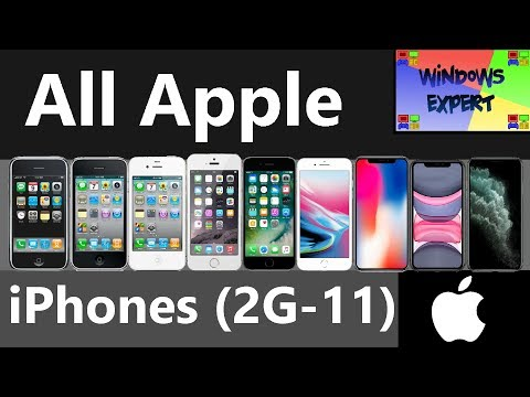 ALL APPLE IPHONES (2G TO 11)
