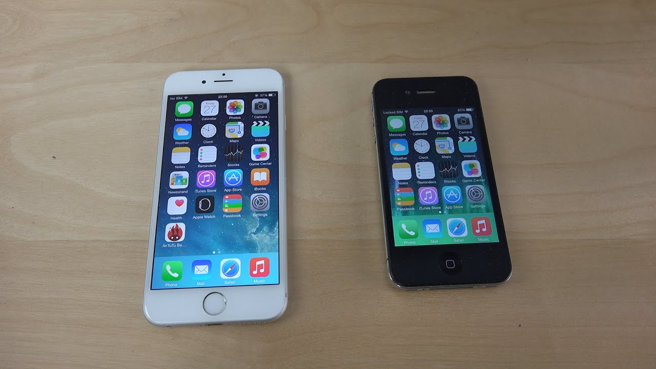 iPhone 6 iOS 8.3 Beta 4 vs. iPhone 4S iOS 8.3 Beta 4 ...