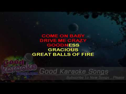 Great Balls of Fire - Jerry Lee Lewis (Lyrics Karaoke) [ goodkaraokesongs.com ]
