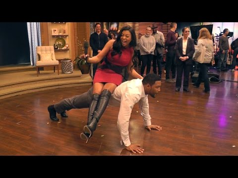 Empire's Taraji P. Henson Challenges Michael to Push-Ups