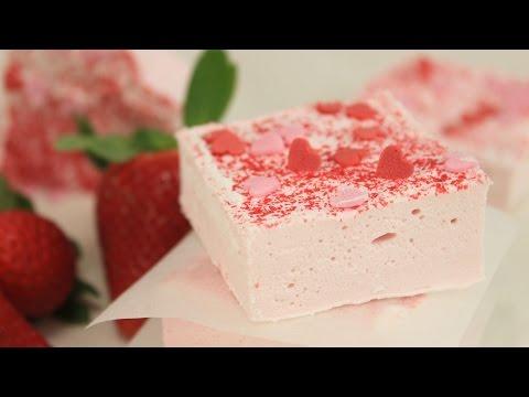Erdbeer Marshmallows zum Valentinstag I Strawberry Marshmallows I Marshmallows selber machen