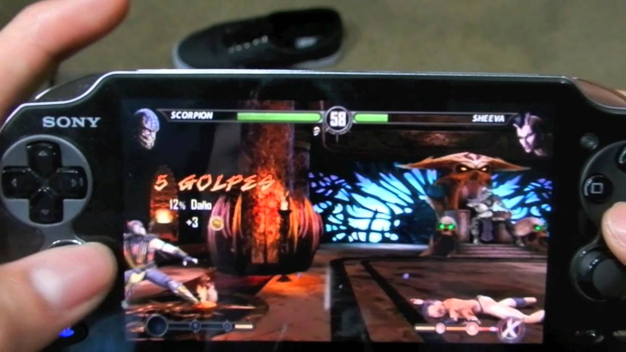 Jugando Mortal Kombat PS VITA (Gameplay Español)
