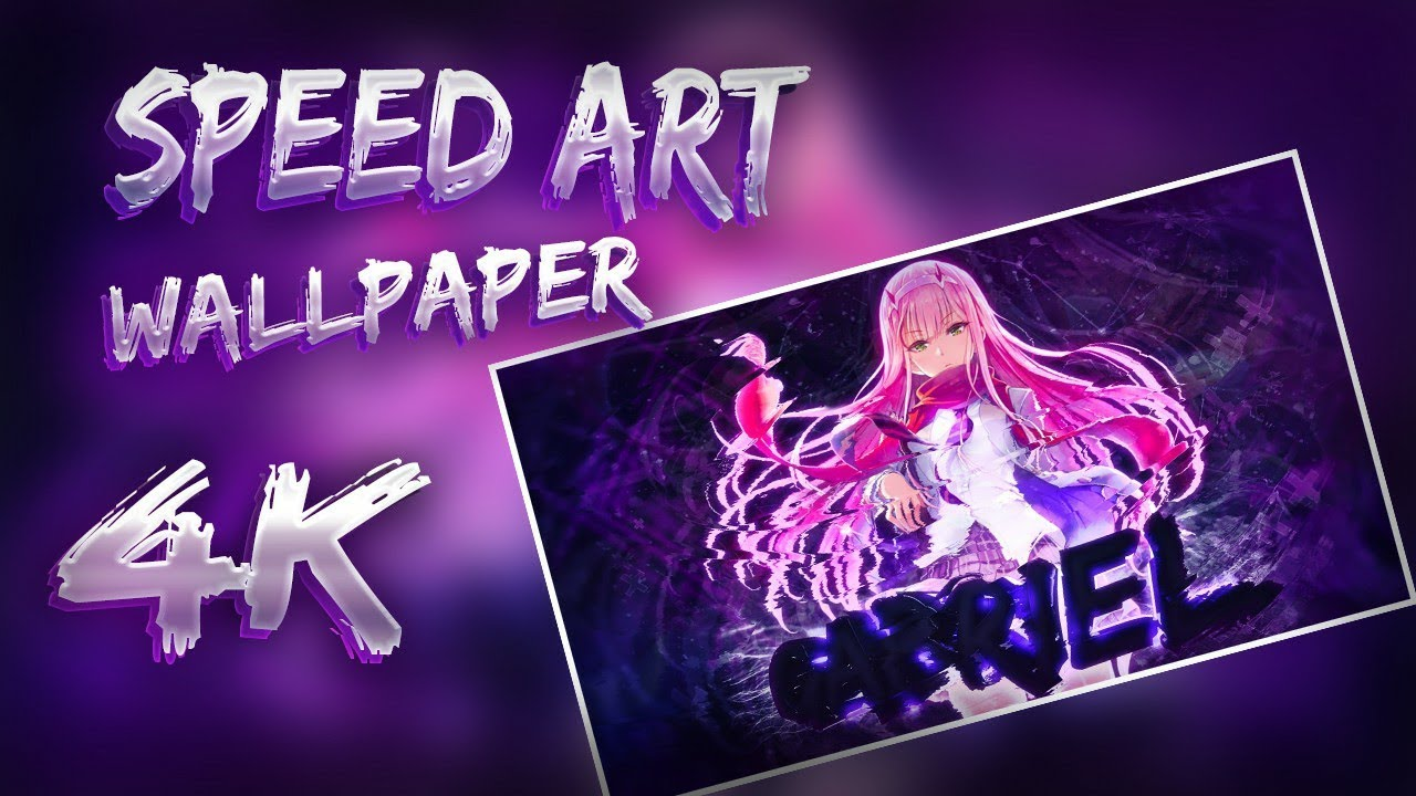 Speedart Wallpaper 4k Darling In The Franxx Photoshop Youtube