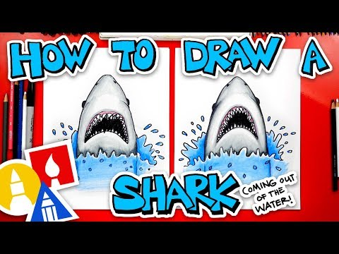 how-to-draw-a-shark-coming-out-of-the-water-(jaws)