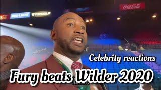 FURY BEATS WILDER 2020 - Celebrity Reactions!!!