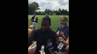 Anquan Boldin Talks About Being The New Lion In Camp!