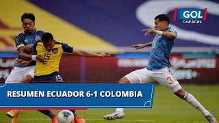 Ecuador vs Colombia (6 - 1): resumen del partido – Eliminatorias Sudamericanas