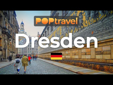 Walking in DRESDEN / Germany 🇩🇪- Rainy Afternoon in the Old Town (2020) - 4K 60fps (UHD)