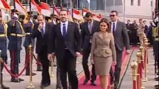مراسم مغادرة رئيس الوزراء اللبناني سعد الحريري من مطار القاهرة الدولي (23 مارس 2017)