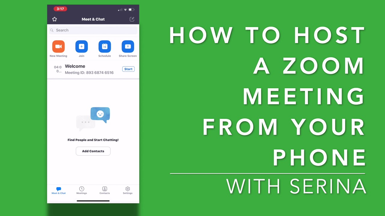 How to Host a Zoom Meeting From Your Phone!