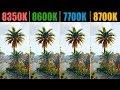 Assassin's Creed: Origins i3 8350K vs. i5 8600K vs. i7 7700K vs. i7 8700K