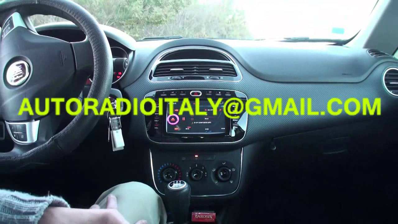 radio navigatore fiat punto evo da 2009 dvd gps youtube. Black Bedroom Furniture Sets. Home Design Ideas