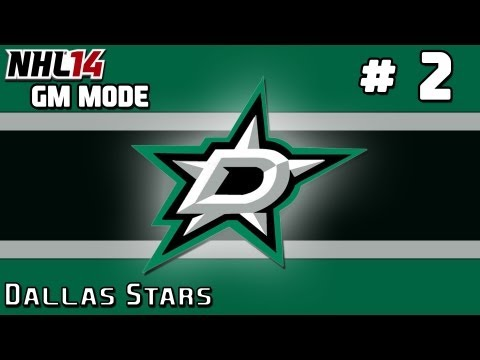 NHL 14: GM Mode Commentary - Dallas Stars ep. 2 - Making A Trade