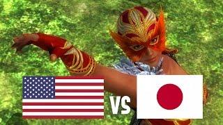 DOA5LR English Vs Japanese Voice Comparison (Part 6) (La Mariposa/Lisa, Bass, Leifang)