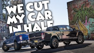 WE CUT MY CAR IN HALF // Ranger Long Bed Conversion // Ultimate Stretches
