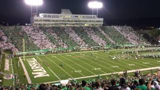 We Are Marshall Chant @ Marshall Vs. Louisville Game
