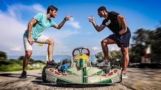 FIRST TIME ON A 100cc 2-STROKE KART - I CHALLENGE LUCA SALVADORI [English Subtitles]