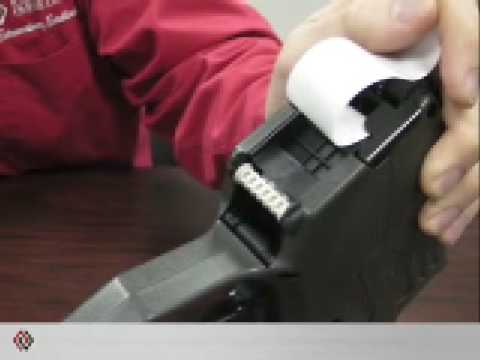 Monarch 1150 Series Label Gun Loading Instructions Youtube