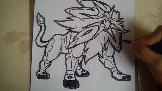 COMO DIBUJAR A SOLGALEO - POKEMON / how to draw solgaleo - pokemon