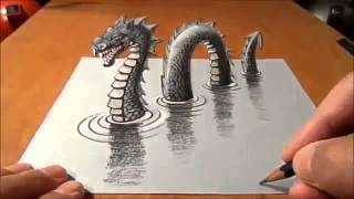Hot To Draw Dragon 3D II 3d Drawing II Learning to draw like pro