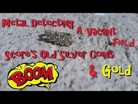 Metal Detecting Gold, Silver & Old Coins @ A Vacant Lot