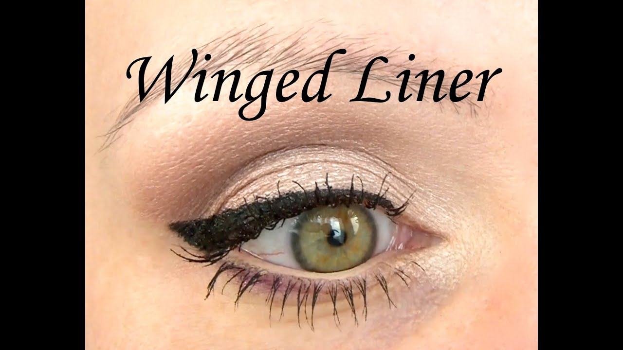 Perfect winged eyeliner tutorial step by step cat eye liner youtube baditri Image collections