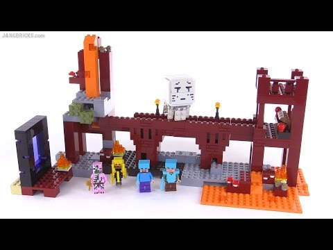 LEGO Minecraft The Nether Fortress reviewed! set 21122 - YouTube